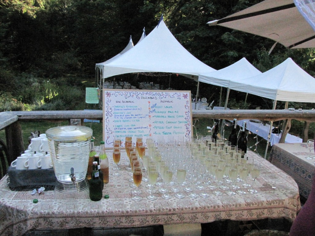 A great variety of refreshments were served